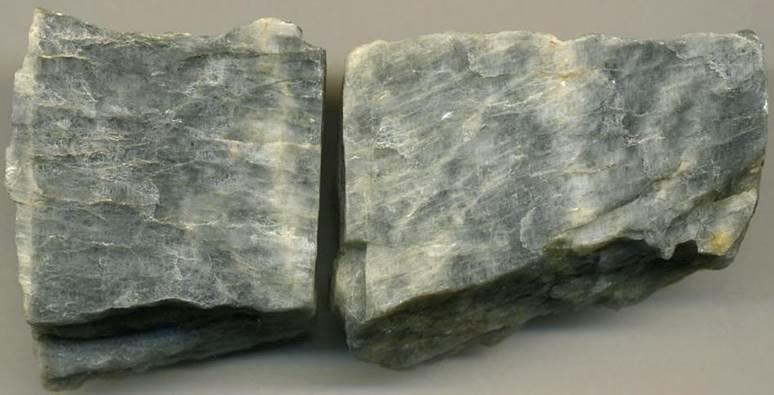 Plagioclase feldspar (probably labradorite).